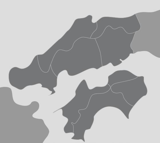中四国地図